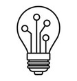 bulb ai smart icon outline style vector image vector image