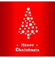 Christmas and New Year red background with vector image