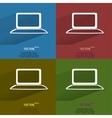 color set notebook flat modern web button vector image