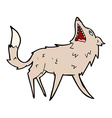 comic cartoon snapping wolf vector image vector image