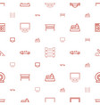 contemporary icons pattern seamless white vector image vector image