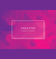 creative geometric wallpaper vector image vector image