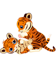 Cute playful tiger cub vector | Price: 3 Credits (USD $3)