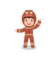 cute smiling little boy in the costume of vector image vector image
