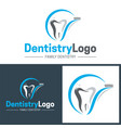 dentistry icon and logo vector image vector image