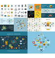 digital quantum computing icon set vector image
