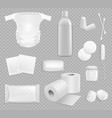 family hygiene stuff isolated supplies set vector image vector image