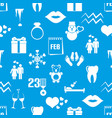 February month theme set of simple icons pattern