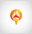 fire logo sun empty vector image