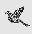 flying bird floral ornament decoration vector image vector image