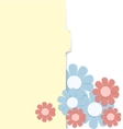 Folder with paper crafted flowers vector image vector image