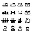 friend friendship icons vector image vector image