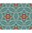 geometric mosaic vintage ethnic seamless pattern vector image vector image