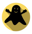 ghost isolated sign flat black icon with vector image
