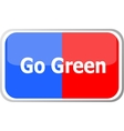 go green words on web button icon isolated vector image vector image