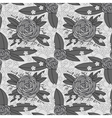 grayscale rose pattern vector image