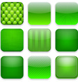 Green app icons vector image vector image