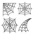 halloween cobweb or spiderweb vintage set vector image