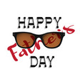 happy fathers day handwritting lettering with vector image