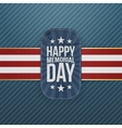 Happy Memorial Day festive Badge and Ribbon vector image vector image