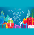happy new 2020 year wishing card concept vector image vector image