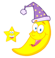 Happy Star And Moon vector image