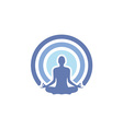 health yoga logo vector image