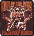 highway rider king of the road vector image vector image