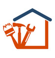 home repair with the tool vector image vector image