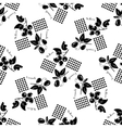 Honeysuckle flat icons seamless putter vector image