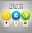 infographic teamwork template vector image