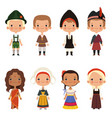 kids different nationalities vector image vector image