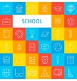 Line School Icons Set vector image vector image