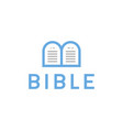 logo bible letter b tablets with commandments vector image vector image