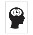 Man and thinking and time vector image vector image