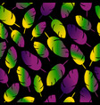mardi gras seamless pattern with feathers on white vector image
