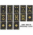playing cards spade suit poker cards original vector image