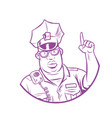 police index finger up vector image