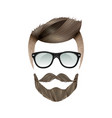 realistic hipster hairstyle vector image vector image