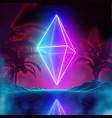 retro futuristic background for game music 3d vector image