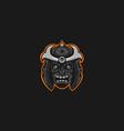 samurai skull mascot logo vector image vector image