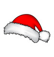 santa hat christmas cap icon symbol design winter vector image