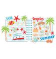 scrapbook elements with tropics vector image vector image