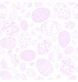 seamless easter eggs background pink doodle vector image vector image