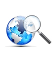 search magnifier vector image vector image