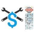 Service Price Icon With 2017 Year Bonus Symbols vector image