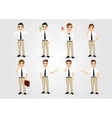 set of businessmen in poses vector image vector image