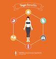 Set of yoga poses infographic in flat design vector image vector image