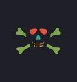 Skull crossbones computer symbol vector image vector image