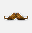 sticker hipsters mustache vector image vector image